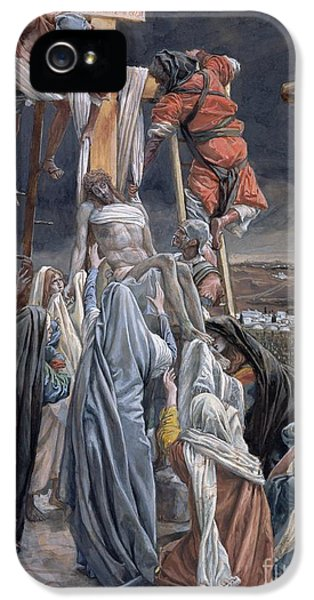The Descent From The Cross IPhone 5 Case by Tissot