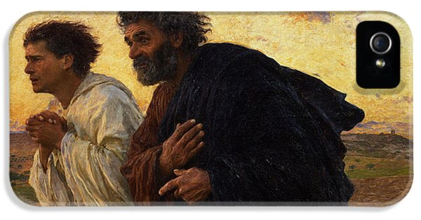 The Disciples Peter And John Running To The Sepulchre On The Morning Of The Resurrection IPhone 5 Case