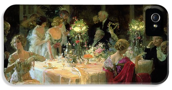 The End Of Dinner IPhone 5 Case by Jules Alexandre Grun