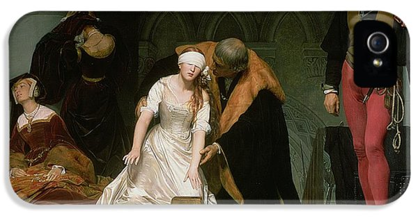 The Execution Of Lady Jane Grey IPhone 5 Case by Hippolyte Delaroche
