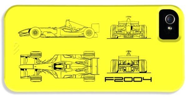 The F2004 Gp Blueprint - White IPhone 5 Case