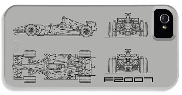 The F2007 Gp Blueprint - White IPhone 5 Case