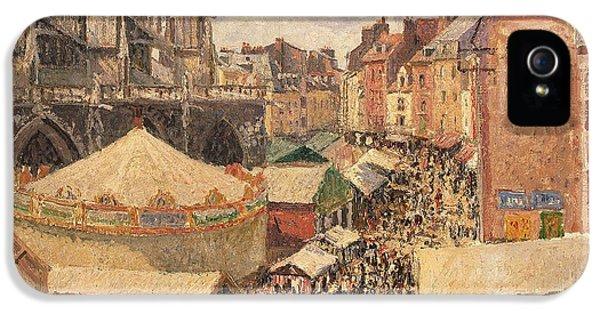 The Fair In Dieppe IPhone 5 Case by Camille Pissarro