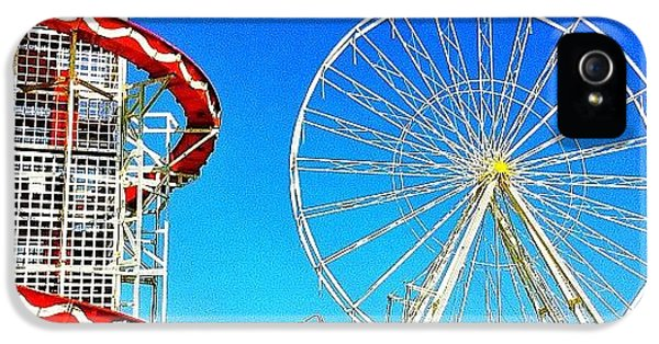 Blue iPhone 5 Case - The Fair On Blacheath by Samuel Gunnell