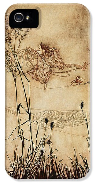 The Fairy's Tightrope From Peter Pan In Kensington Gardens IPhone 5 Case by Arthur Rackham