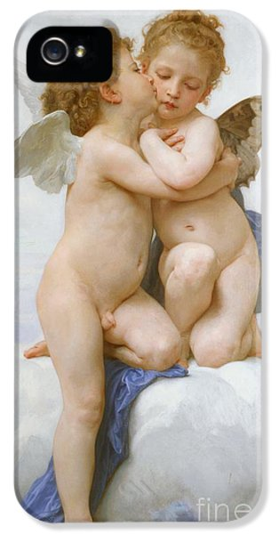 The First Kiss  IPhone 5 Case by William Adolphe Bouguereau