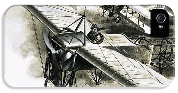 The First Reconnaissance Flight By The Rfc IPhone 5 Case by Wilf Hardy