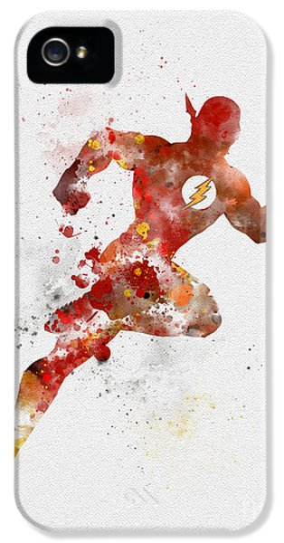 The Flash IPhone 5 Case by Rebecca Jenkins