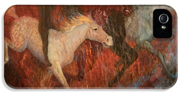 The Four Horsemen Of The Apocalypse IPhone 5 Case by Joan Columbus