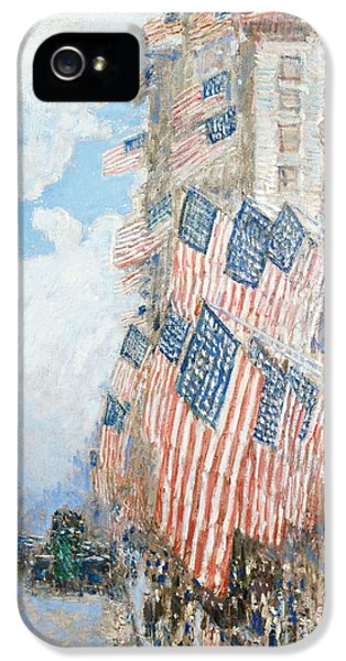 The Fourth Of July IPhone 5 Case by Childe Hassam