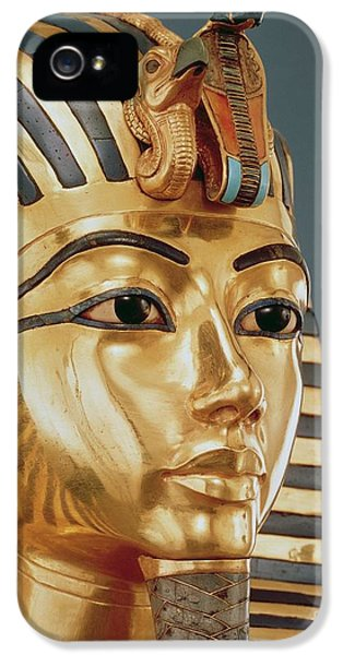 Vulture iPhone 5 Case - The Funerary Mask Of Tutankhamun by Unknown