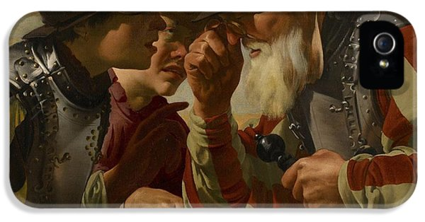 The Gamblers IPhone 5 Case by Hendrick Ter Brugghen