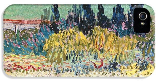 Garden iPhone 5 Case - The Garden At Arles  by Vincent Van Gogh