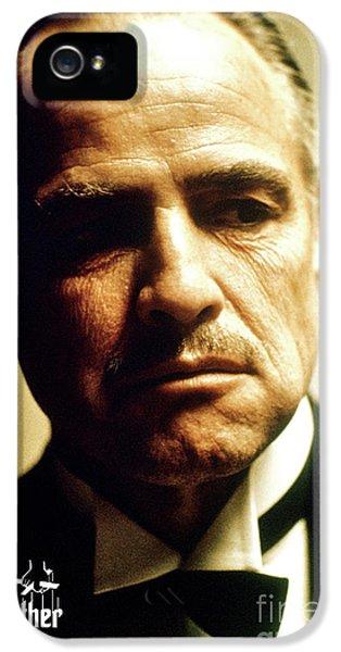Marlon Brando As Mario Puzo's, Don Vito Corleone, The Godfather IPhone 5 Case by Thomas Pollart