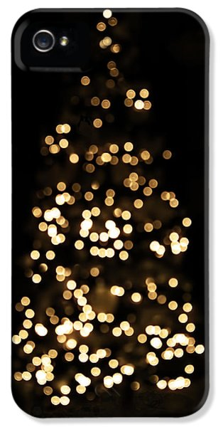 The Golden Glow Of A Christmas Tree IPhone 5 Case by Rona Black