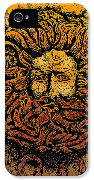 The Gorgon Man Celtic Snake Head IPhone 5 Case by Larry Butterworth