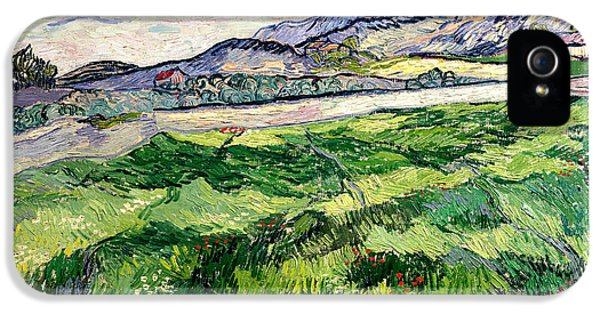 The Green Wheatfield Behind The Asylum IPhone 5 Case by Vincent van Gogh