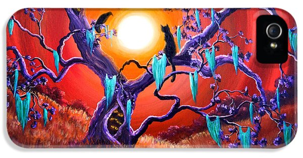 Spooky iPhone 5 Cases - The Halloween Tree iPhone 5 Case by Laura Iverson