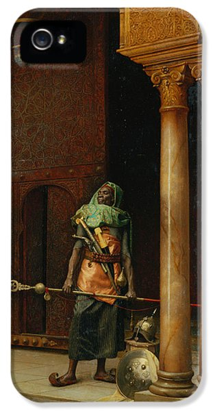 The Harem Guard  IPhone 5 Case by Ludwig Deutsch