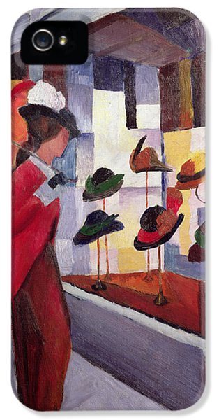 The Hat Shop IPhone 5 Case by August Macke
