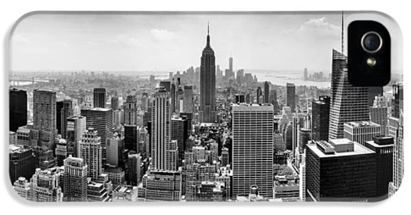 New York City Skyline Bw IPhone 5 / 5s Case by Az Jackson