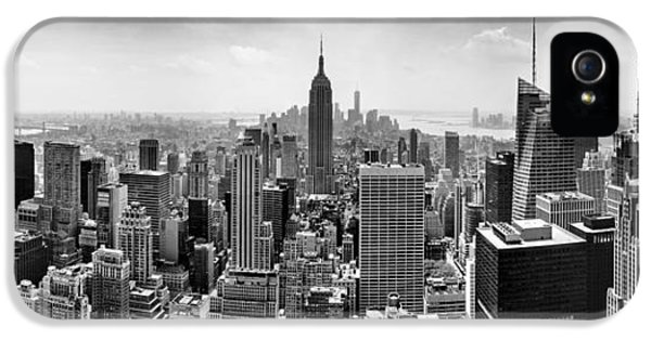Empire State Building iPhone 5 Case - New York City Skyline Bw by Az Jackson