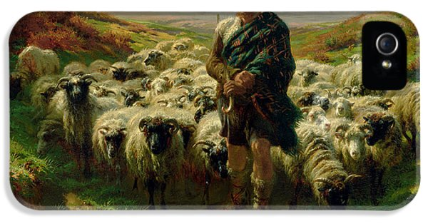 The Highland Shepherd IPhone 5 Case by Rosa Bonheur