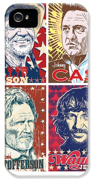 Johnny Cash iPhone 5 Case - The Highwaymen by Jim Zahniser