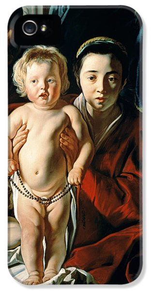 The Holy Family With St. John The Baptist IPhone 5 Case by Jacob Jordaens