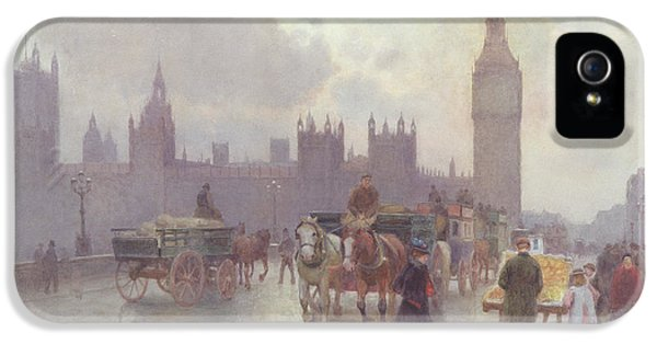Clock iPhone 5 Case - The Houses Of Parliament From Westminster Bridge by Alberto Pisa