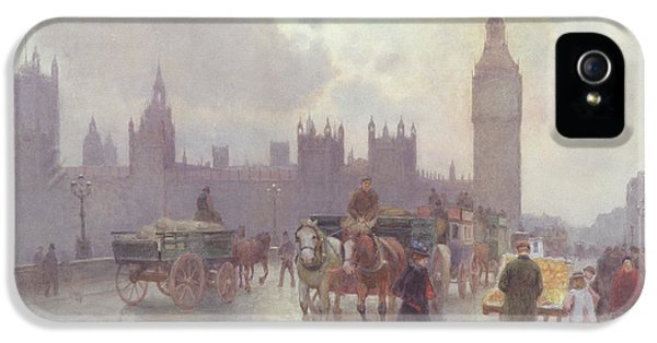 The Houses Of Parliament From Westminster Bridge IPhone 5 Case by Alberto Pisa