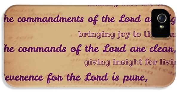 Design iPhone 5 Case - The Instructions Of The Lord Are by LIFT Women's Ministry designs --by Julie Hurttgam