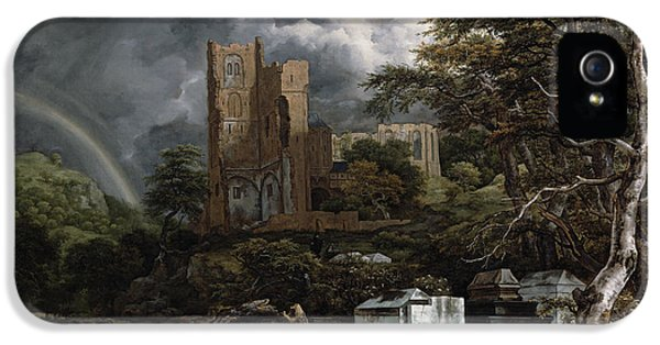 The Jewish Cemetery IPhone 5 Case by Jacob Isaaksz Ruisdael