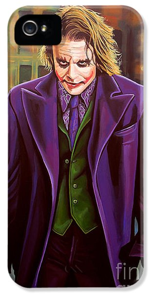 Knight iPhone 5 Case - The Joker In Batman  by Paul Meijering