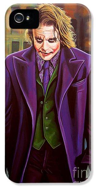 The Joker In Batman  IPhone 5 Case by Paul Meijering