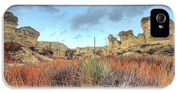 IPhone 5 Case featuring the photograph The Kansas Badlands by JC Findley