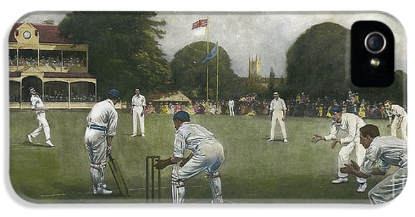 Cricket iPhone 5 Case - The Kent Eleven Champions, 1906 by Albert Chevallier Tayler