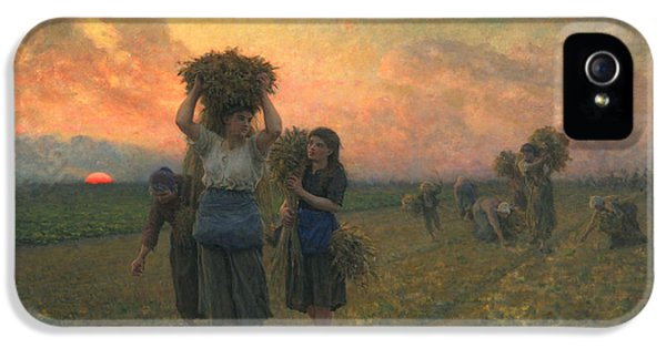 The Last Gleanings IPhone 5 Case by Jules Breton