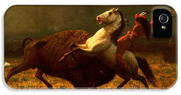 The Last Of The Buffalo IPhone 5 Case by Albert Bierstadt