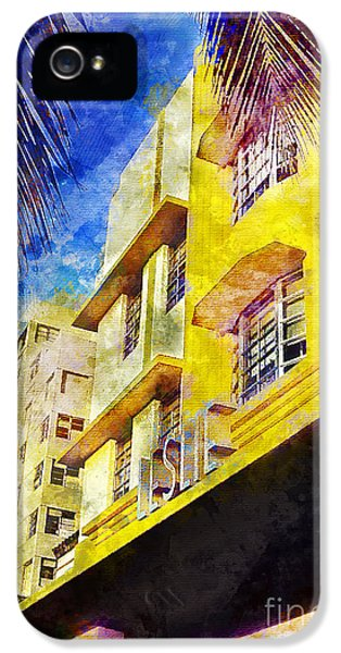 Miami Skyline iPhone 5 Case - The Leslie Hotel South Beach by Jon Neidert