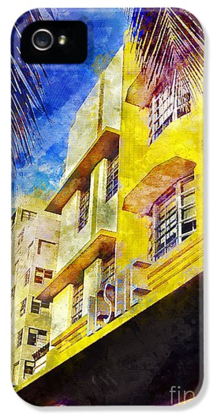 The Leslie Hotel South Beach IPhone 5 Case by Jon Neidert
