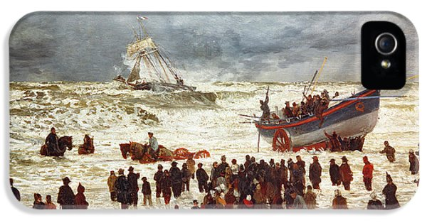 Boat iPhone 5 Case - The Lifeboat by William Lionel Wyllie