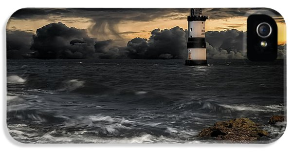 Puffin iPhone 5 Case - The Lighthouse Storm by Adrian Evans