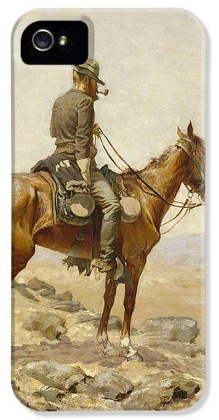 Horse iPhone 5 Case - The Lookout by Frederic Remington