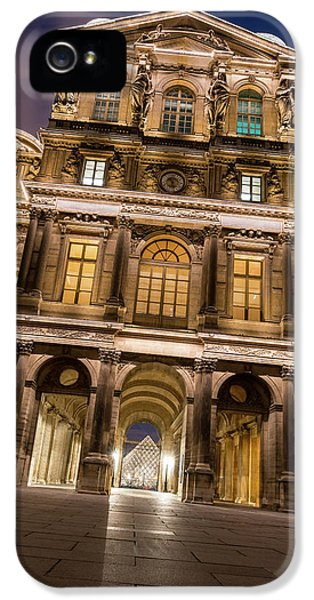 Louvre iPhone 5 Case - The Louvre Museum At Night by James Udall