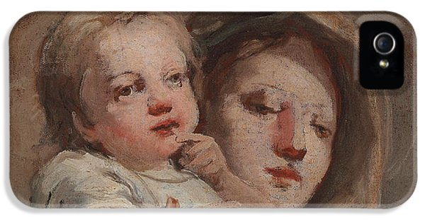 The Madonna And Child With A Goldfinch IPhone 5 / 5s Case by Tiepolo