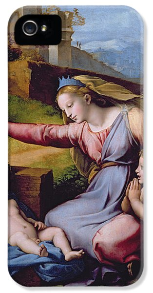 The Madonna Of The Veil IPhone 5 Case by Raphael