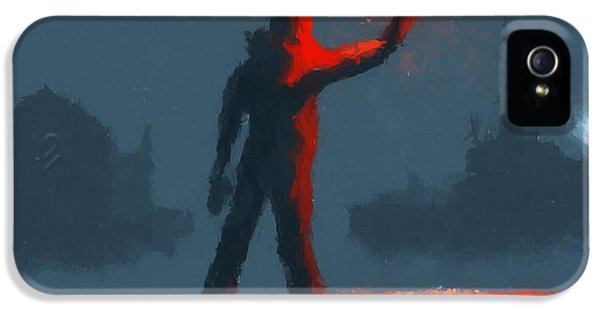 Scifi iPhone 5 Cases - The man with the flare iPhone 5 Case by Pixel  Chimp