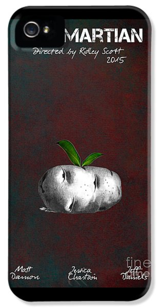 The Martian By Ridley Scott Film Poster IPhone 5 Case by Justyna JBJart