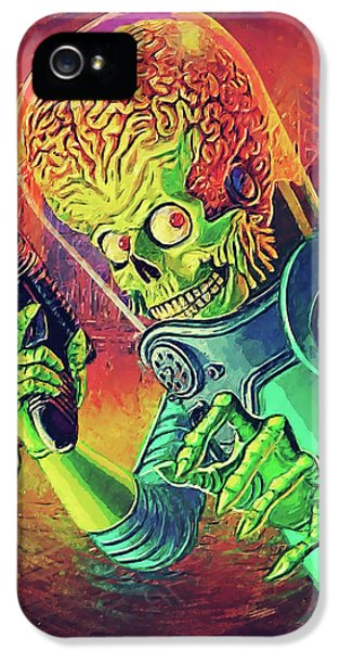 Jack Nicholson iPhone 5 Case - The Martian - Mars Attacks by Taylan Apukovska